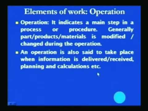 Mod-3 Lec-5 Recording Techniques for Method Study Part-1