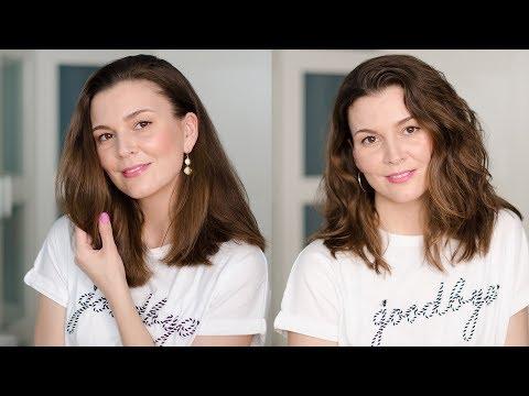 Как уложить волосы средней