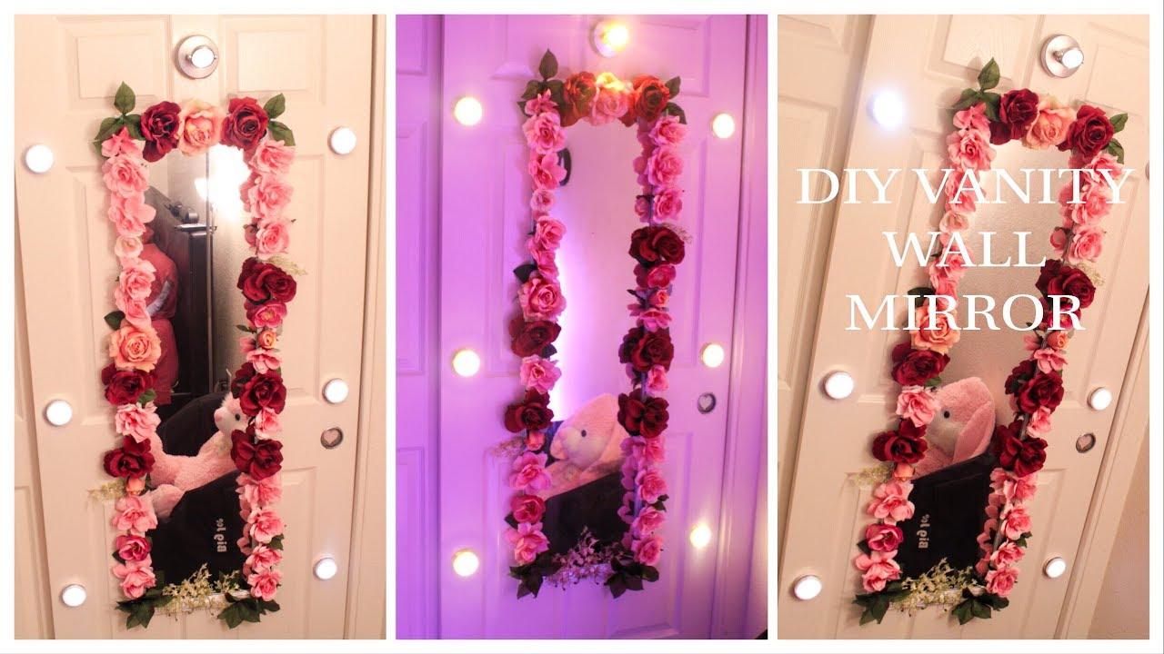 Diy Flower Vanity Wall Mirror Budget