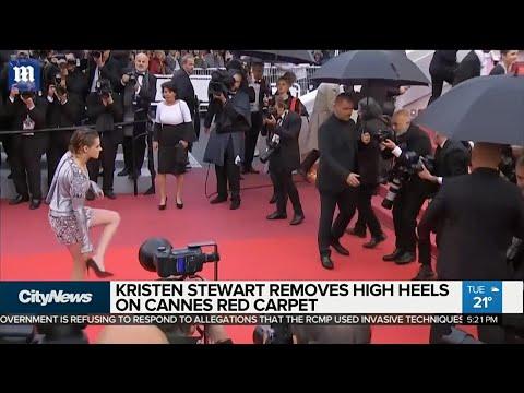 Kristen Stewart ditches heels on Cannes red carpet
