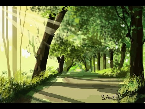 Digital Painting Tutorial on Photoshop - Landscapes
