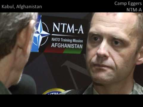 Lieutenant Commander Jonathan Orr at NATO Training Mission Base Camp Egger in Afghanistan