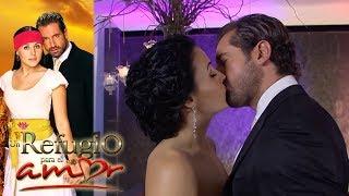 Resumen: ¡Luciana y Rodrigo se besan a escondidas! | Un refugio para el amor - Televisa