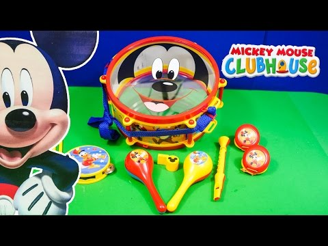 MICKEY MOUSE CLUBHOUSE Disney Mickey Mouse Music Set a Mickey Mouse Video Toy Review