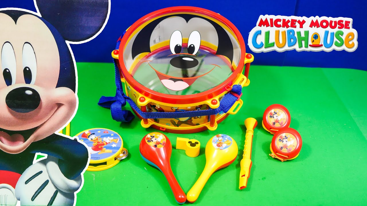 Unboxing the Mickey Mouse Clubhouse Music Set and Toy Drums - YouTube