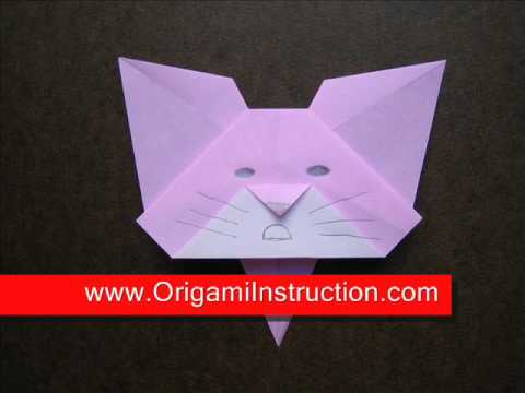Origami Instructions Origami Cat Bookmark Youtube