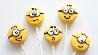 Minion Cookie pops  Oreo Pops  No Bake