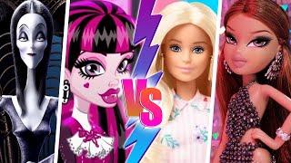Barbie y Bratz vs Draculaura y Morticia - BATALLA EN REGGAETON