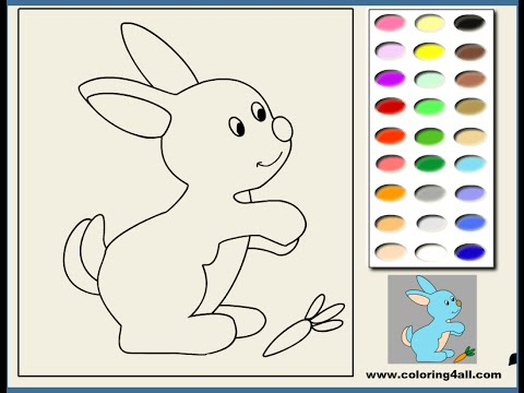 Free Bunny Coloring Pages For Kids