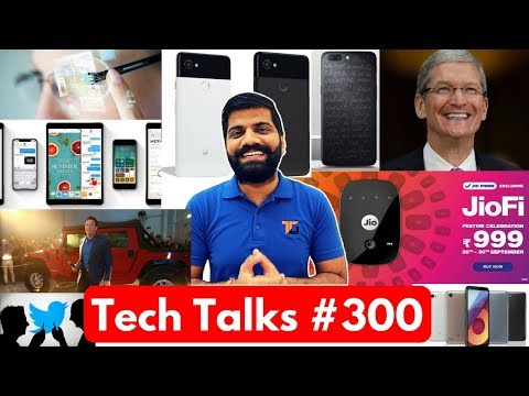 Tech Talks #300 - Pixel 2, JioFi 2, iPhone X Price, LG Q6+, Moto X4 India, Synthetic Muscle