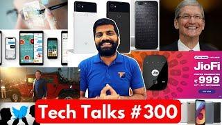 Tech Talks #300 - Pixel 2, JioFi 2, iPhone X Price, LG Q6+, Moto X4 India, Synthetic Muscle