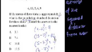 Algebra II: Mean and Standard Deviation