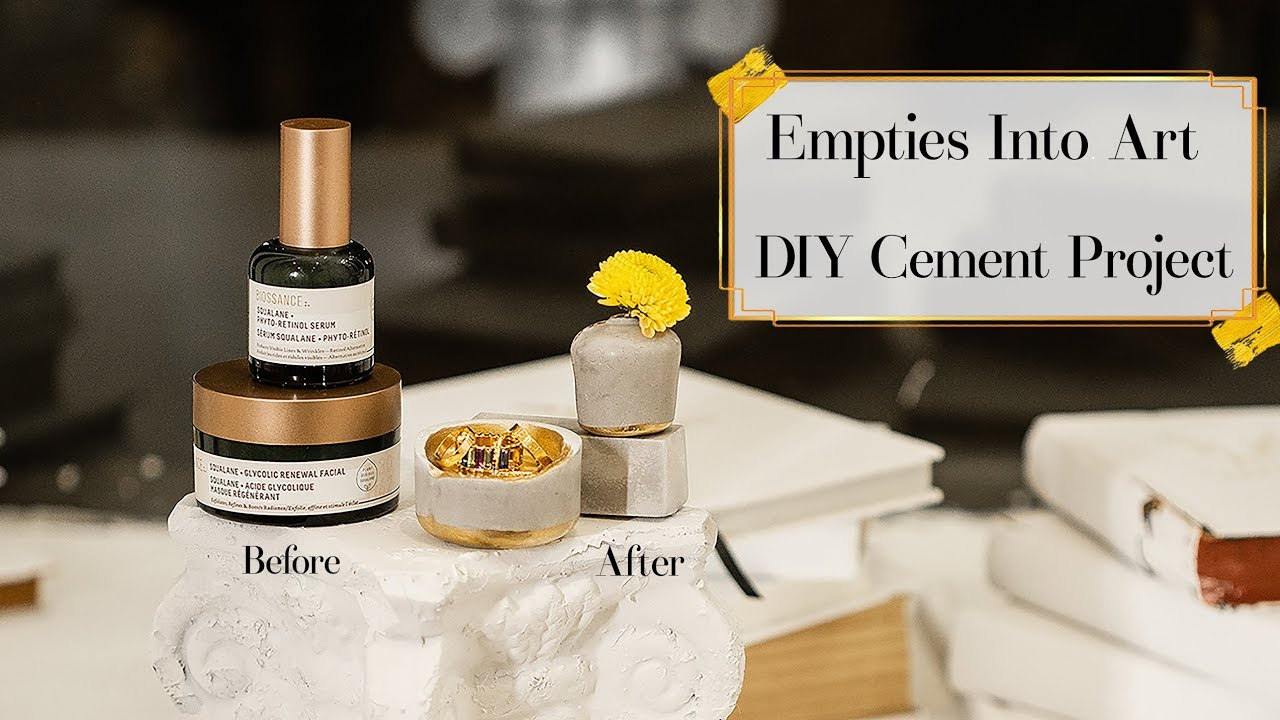 Empties to Art, Sharing Favorites & DIY Cement Project
