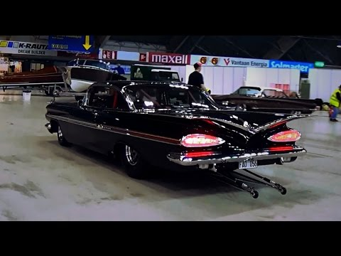 Image result for 1200hp+ '59 Chevy Impala 632ci Big Block – Start-Up & Burnout!!