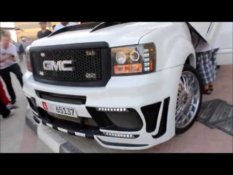 Highly Modified GMC Sierra Denali With DUB Spinners - Extreme Car Park Show