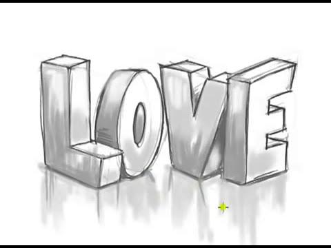 رسم كلمة Love جااااااااااااامدة Youtube