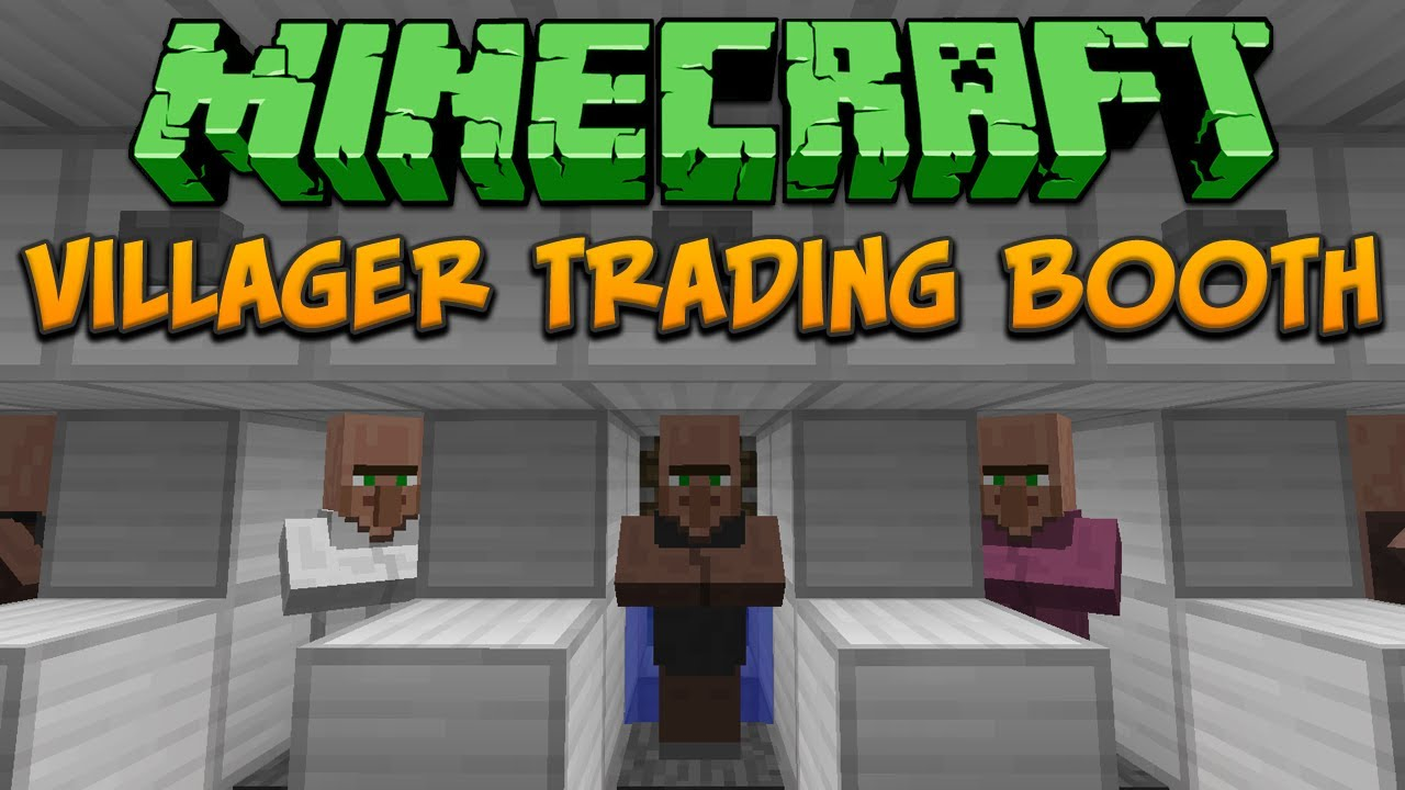 Minecraft: Villager Trading Booth (Tileable) Tutorial - YouTube