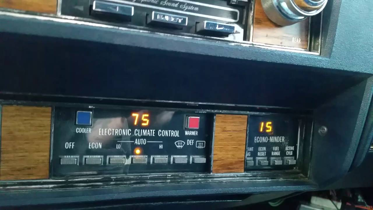 1981 Cadillac going in 8-6-4 mode - YouTube
