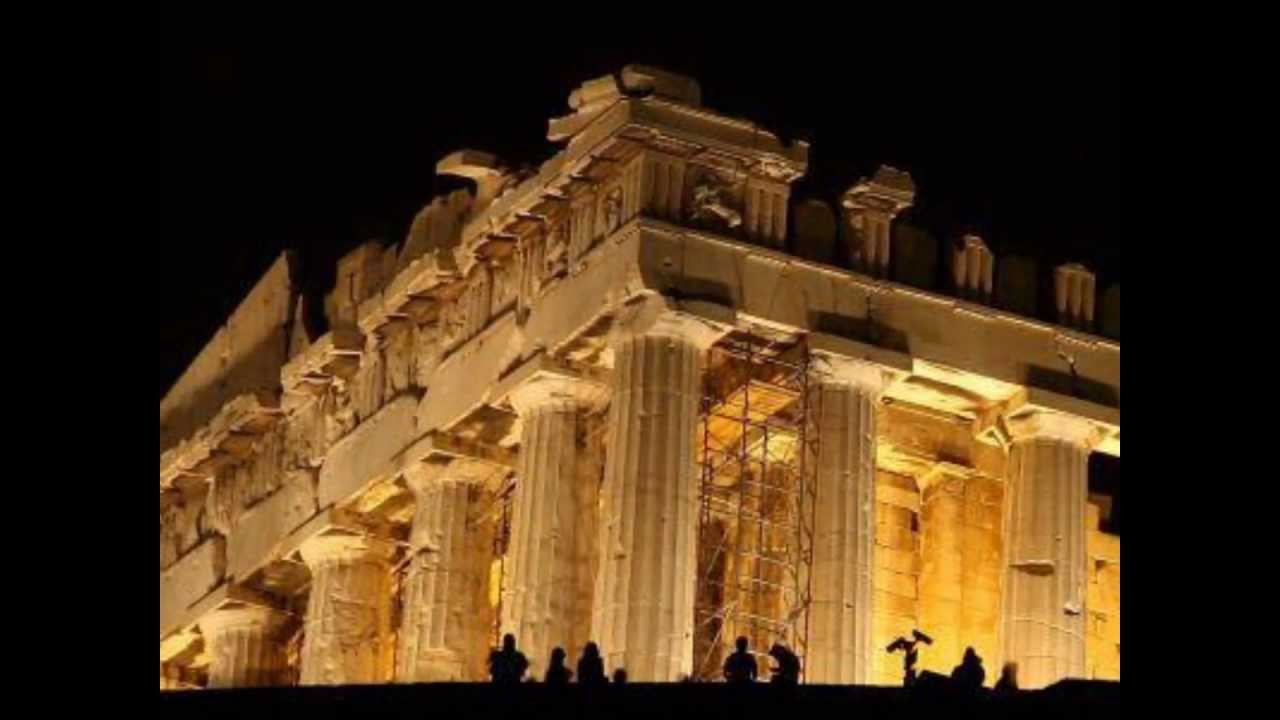 Arquitectura clásica europea , Napoles, Italia  Atenas / Santorini, Grecia.wmv