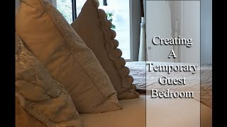 How I FAKED SETTING UP MY GUEST BEDROOM