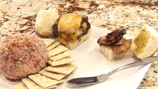 Quail & Elk Sliders With Pheasant Cheese Ball