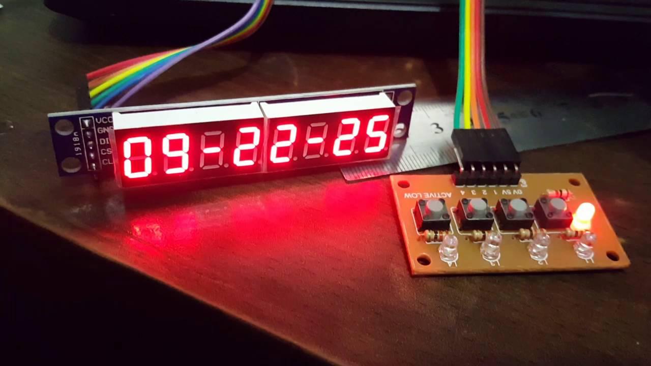 simple digital clock with 8 digits 7 segment arduino youtube rh youtube com