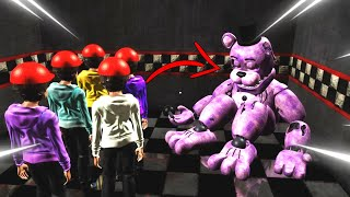 ABRO LA PUERTA SECRETA y METO Niños DENTRO de SHADOW FREDDY! EPICO! | FNAF The Killer in Purple