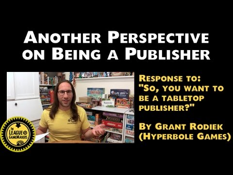 Another Perspective on Being a Publisher