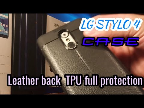 LG STYLO 4 | Leather back anti-shock tough rugged soft silicone TPU full protection case review