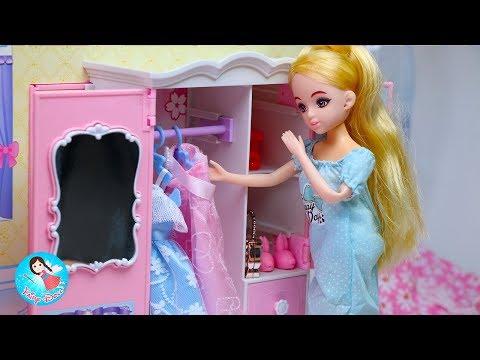 ชีวิตประจำวันของบาร์บี้แสนสวย ของเล่นตุ๊กตาบาร์บี้ บ้านบาร์บี้ Barbie Morning Routine