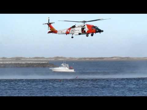 United States Coast Guard mock water rescue Plymouth Ma Nov. 19 2011
