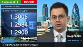 09.04.13 - Прогноз курсов валют. Евро, Доллар, Фунт. MaxiForex(, 2013-04-09T07:21:38.000Z)