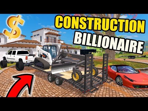 FARMING SIMULATOR 2017 | BILLIONAIRE DIRT CONSTRUCTION PROJECT & NEW BOBCAT SKID LOADER , F-450