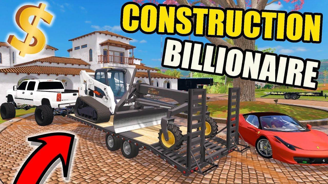 farming-simulator-2017-billionaire-dirt-construction-project-new-bobcat-skid-loader-f-450