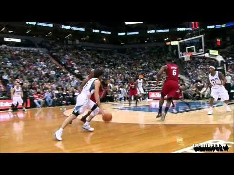 Ricky Rubio Full Highlights vs LeBron James, Wade the Miami Heat HD *6 steals by Rubio