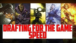 How to win games by drafting for the game speed