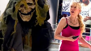 The Grim Reaper Scares People - HALLOWEEN PRANK