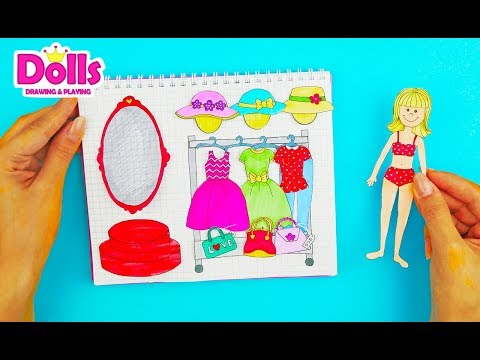 HOW TO MAKE DOLLHOUSE IN ALBUM FOR PAPER DOLLS EASY PAPERCRAFTS FOR KIDS