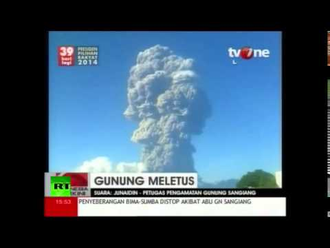 Indonesian Volcano Erupts Spewing Spectacular Ashes