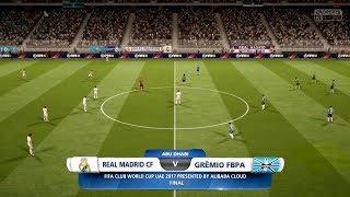 Club World Cup Final 2017: REAL MADRID VS GREMIO FC  16/12/2017  FIFA 18 Predicts by Pirelli7