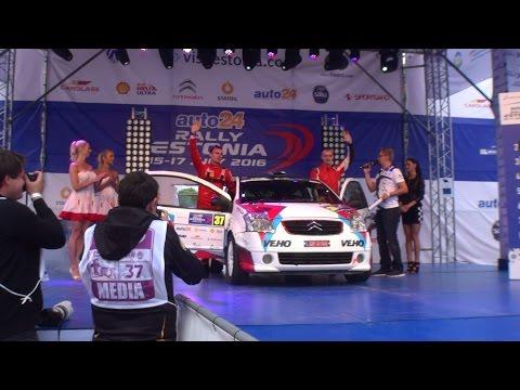 FIA ERC auto24 Rally Estonia 2016 | Ceremonial Start