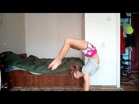 Гимнастика! Как сделать скорпиона на руках? My gymnastics. SCORPION.