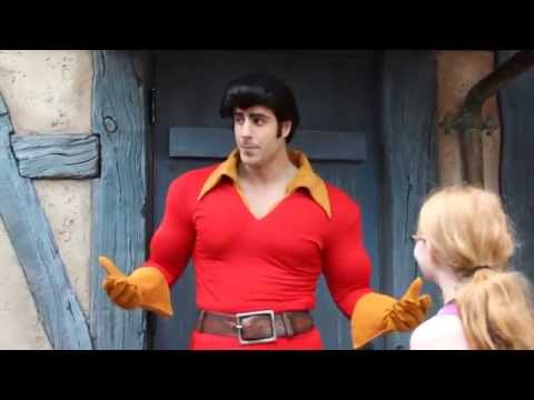 11 year old Girl challenges Gaston to arm wrestle and wins!
