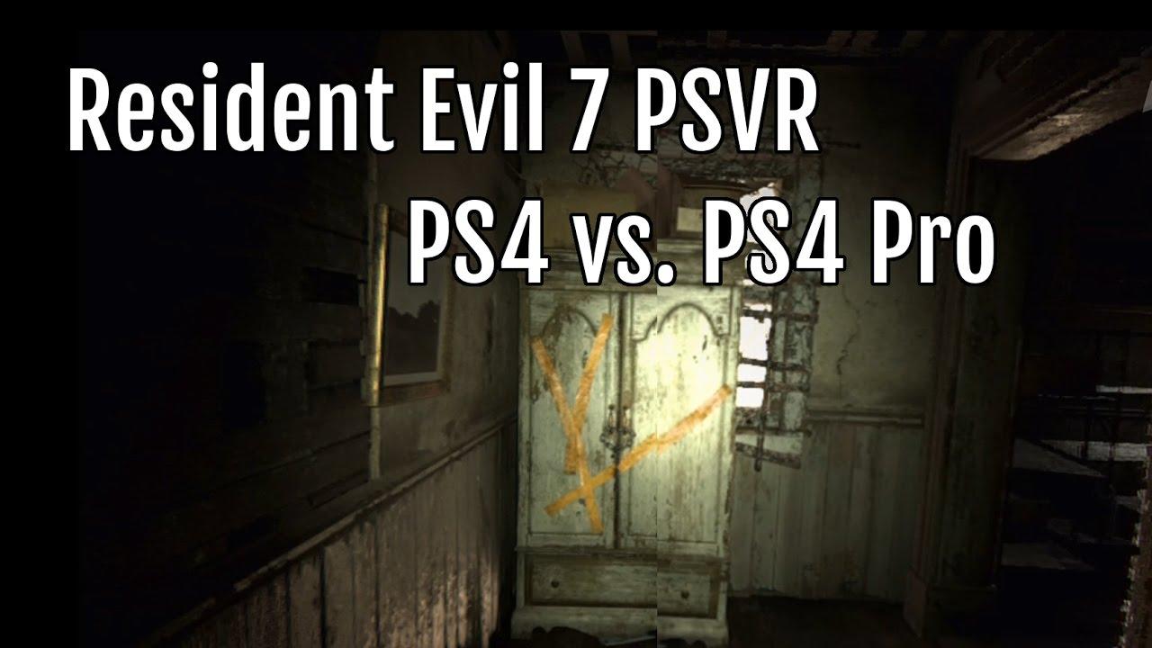 Resident Evil 7 Vr Ps4 Vs Ps4 Pro Youtube