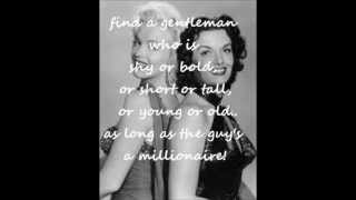 Marilyn Monroe and Jane Russell - Two little girls from little rock with lyrics