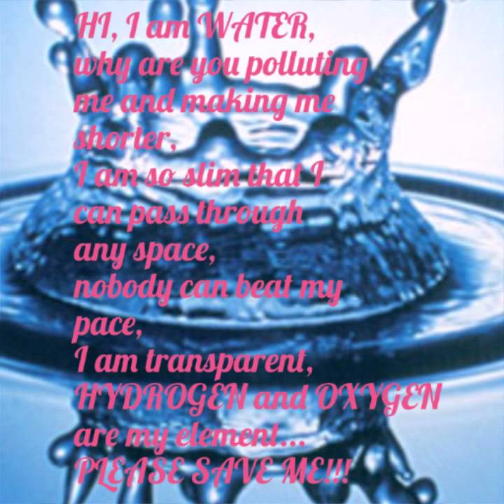 Poem On Water Conservation 78