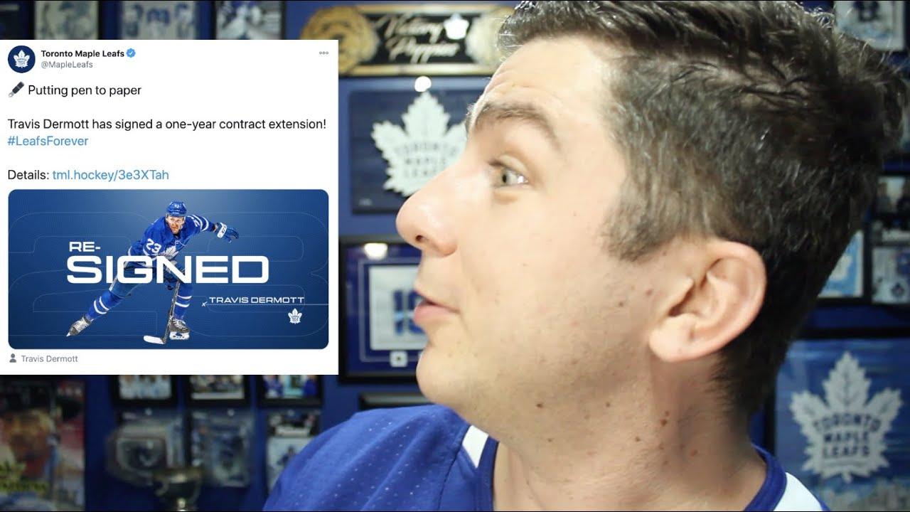 The Leafs re-sign Travis Dermott!