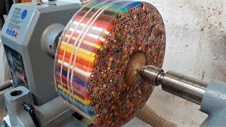 Andy Phillip - Woodturning - The Pencil Donut !! - VIDEOOO