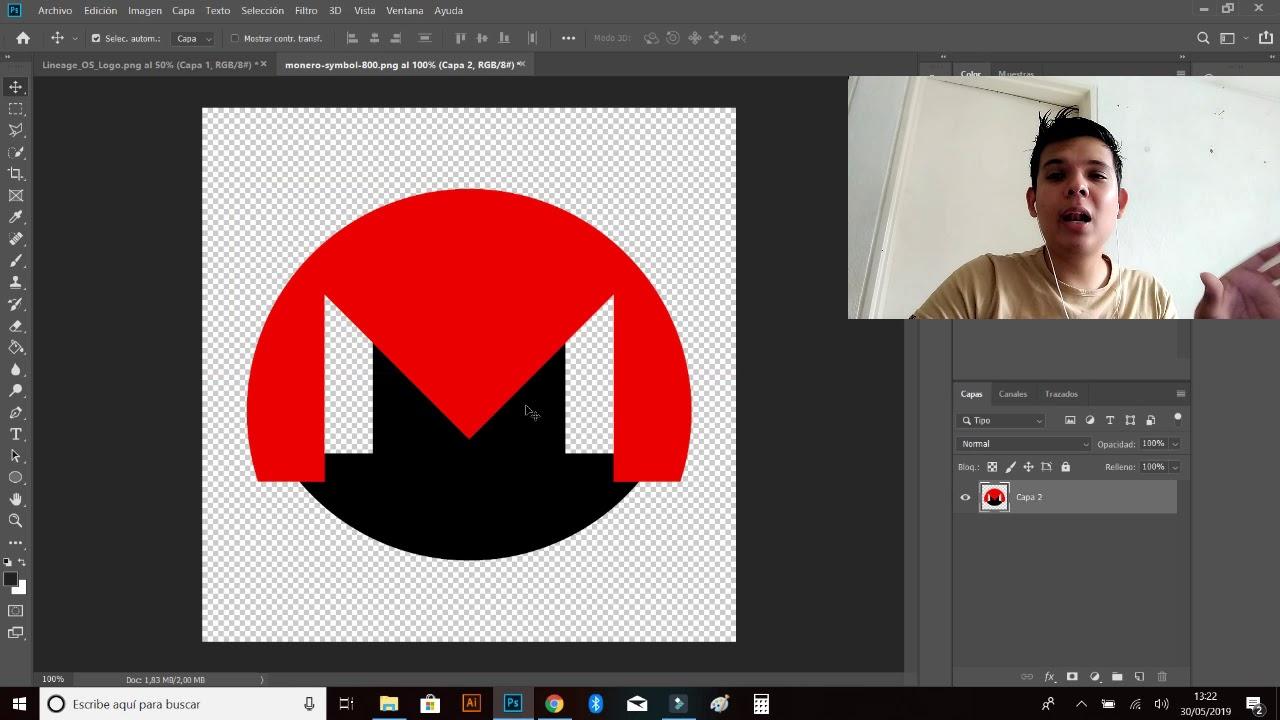 Como Cambiar El Color De Un Logo En Photoshop Cc 2019 Youtube