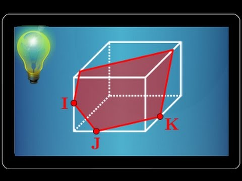 section d'un cube par un plan - exercice type bac - géométrie dans l'espace - terminale S